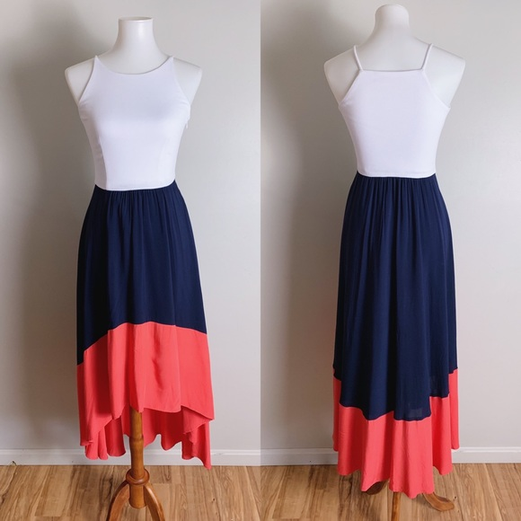 abae38e370e4 Anthropologie Dresses | Anthro Hutch Colorblock High Low Dress ...